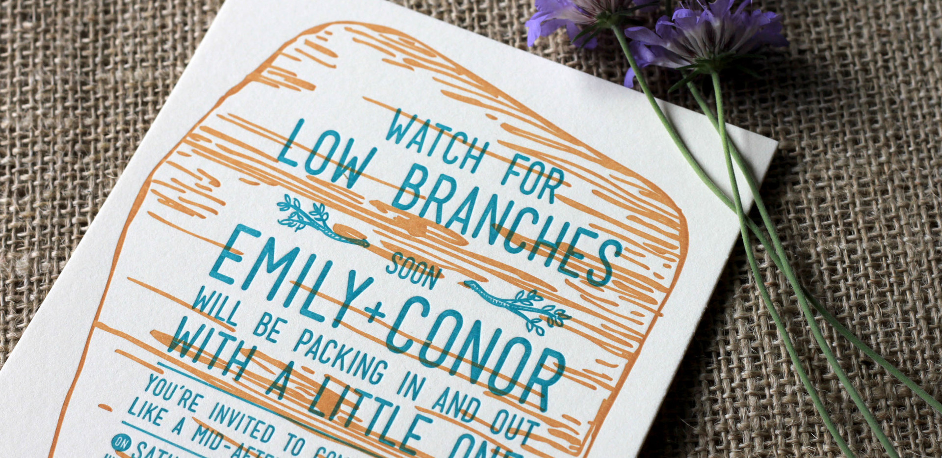 Watch for Low Branches Baby Shower Invitation