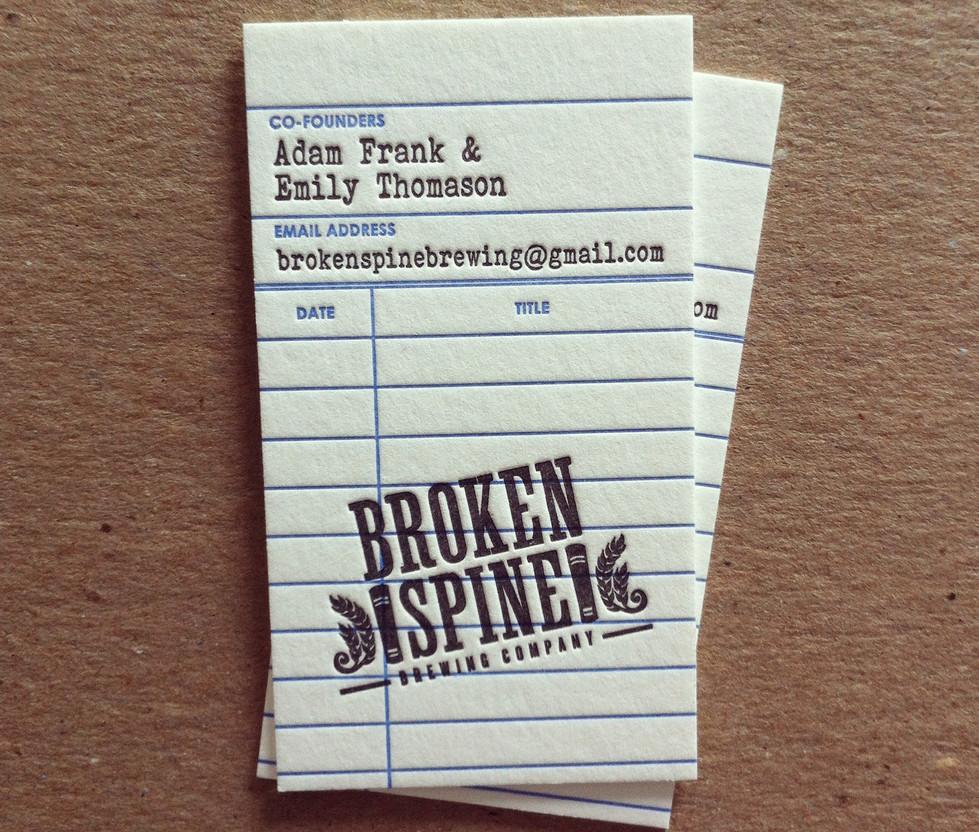 Broken Spine Business Card