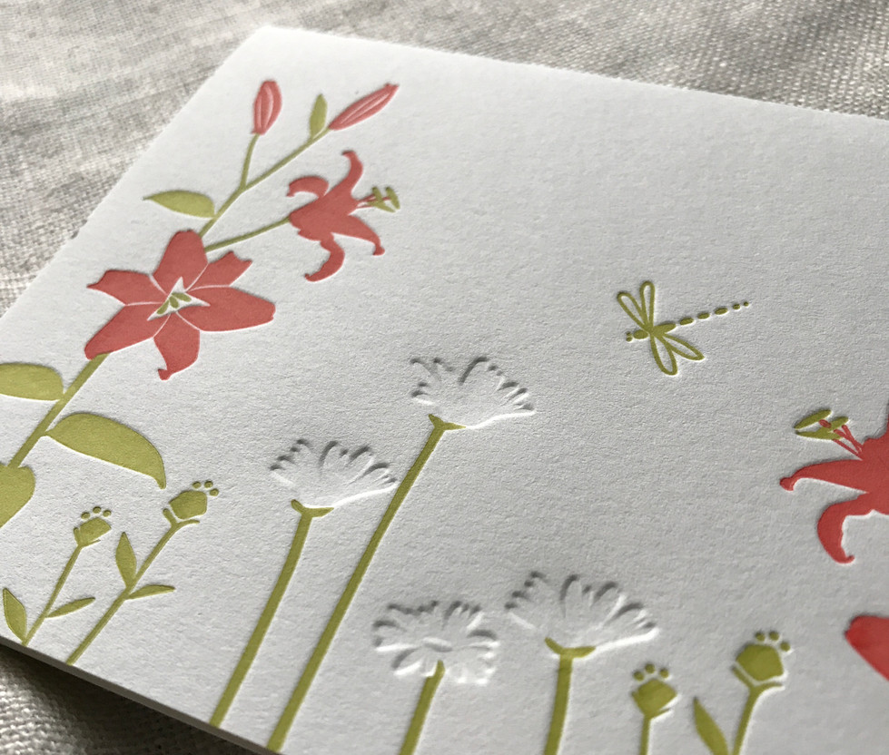 Lilies and Daisies Stationery