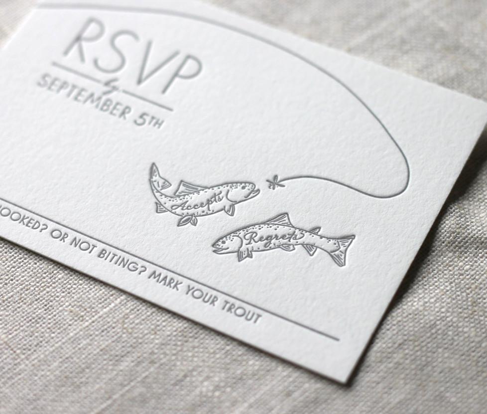 Aspen Fall Wedding RSVP Card