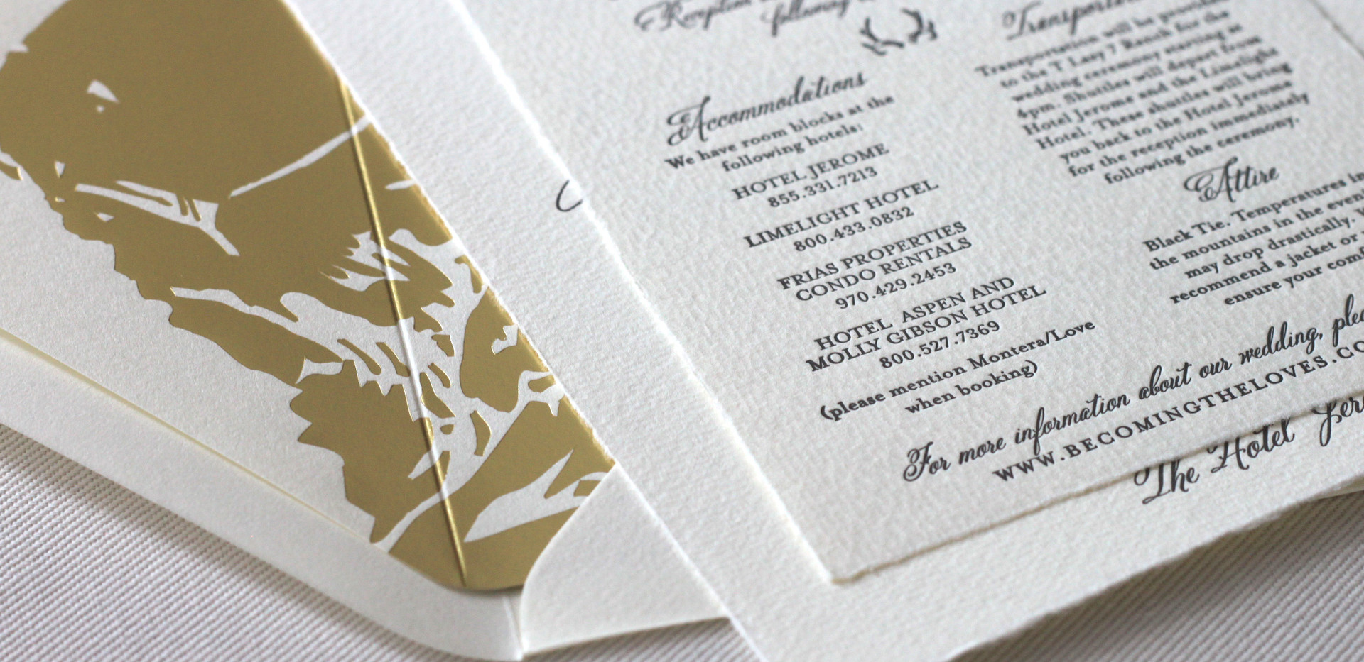 Aspen Love Wedding Invitation Details Card