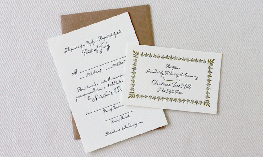 Martha's Vineyard Wedding Cards