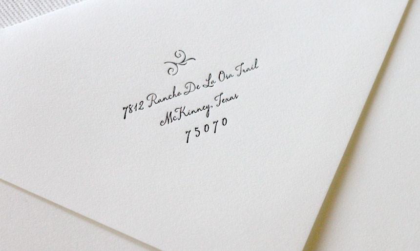 Wrought Iron Wedding Envelope