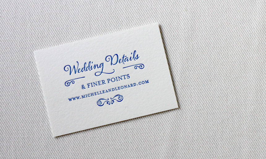 Streetcar Wedding Details Card