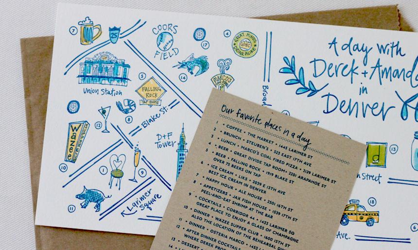 Mason Jar Wedding Collection Welcome Maps