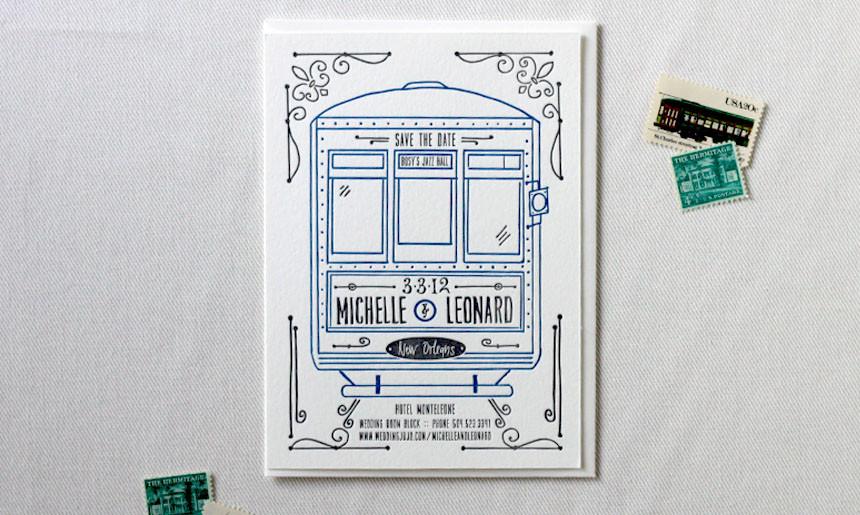 Streetcar Wedding Save the Date