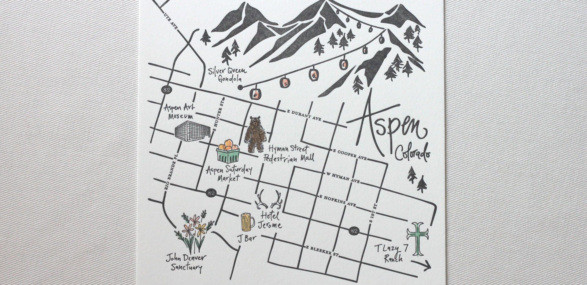 Aspen Love Welcome Maps