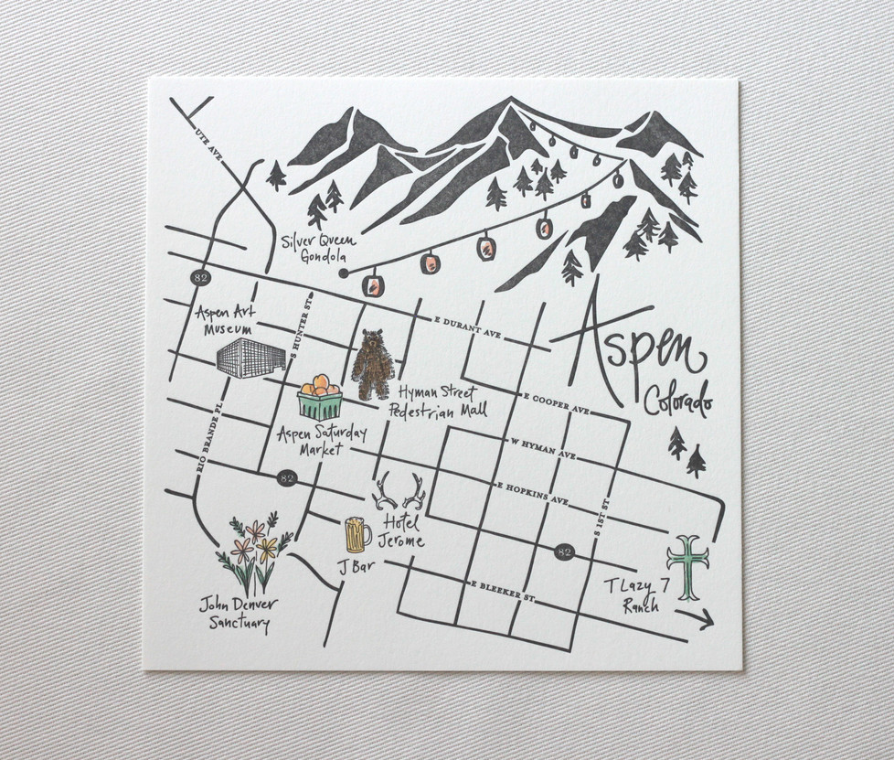 Aspen Love Welcome Maps