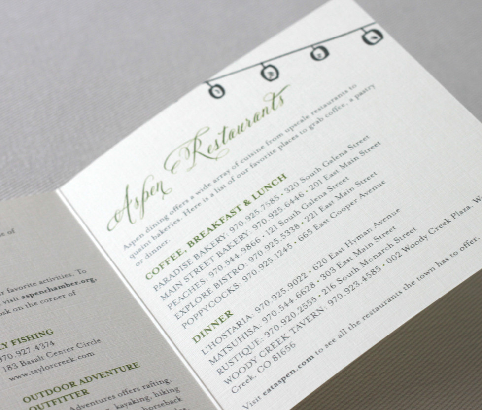 Aspen Love Welcome Cards