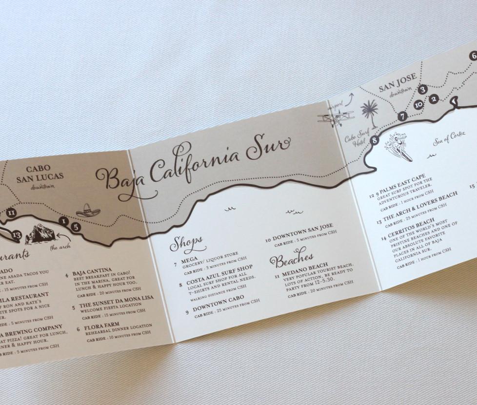 Baja Wedding Welcome Maps
