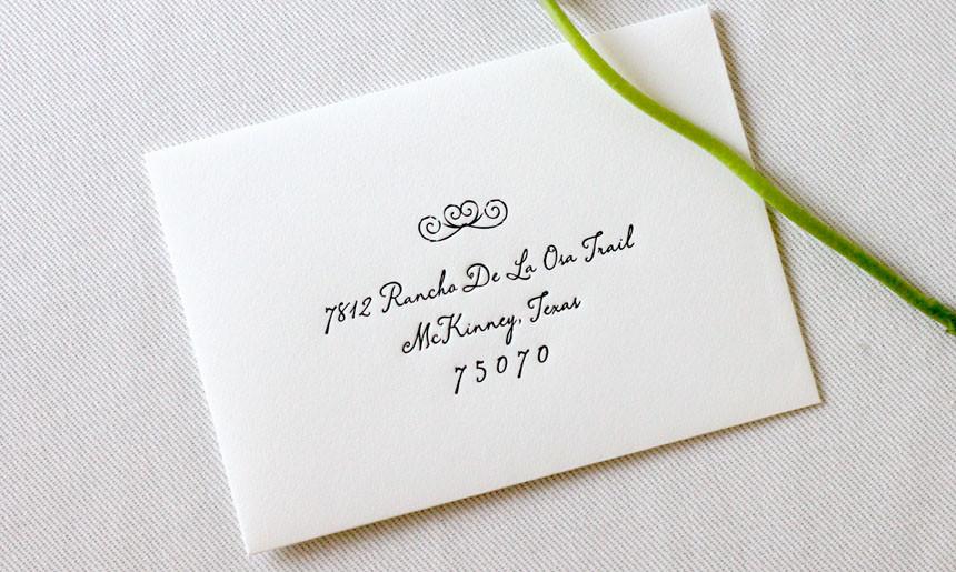 Wrought Iron Wedding RSVP Envelope