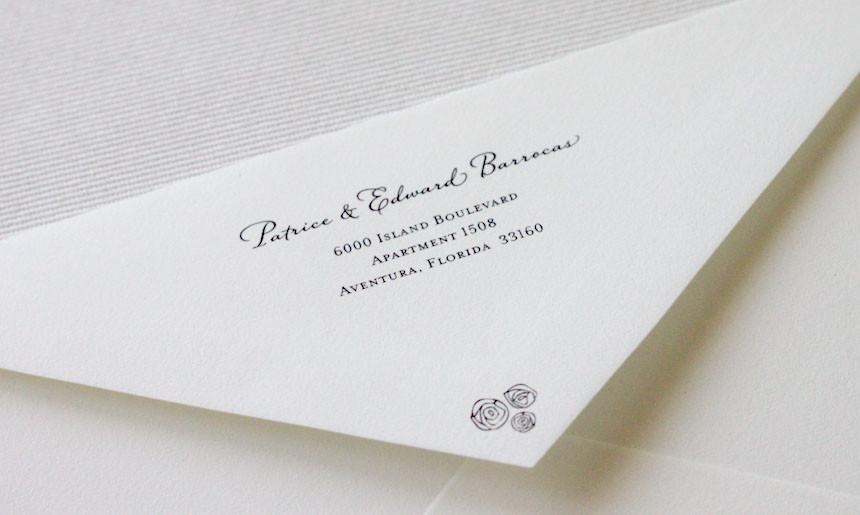 Peony Wedding Collection Envelope