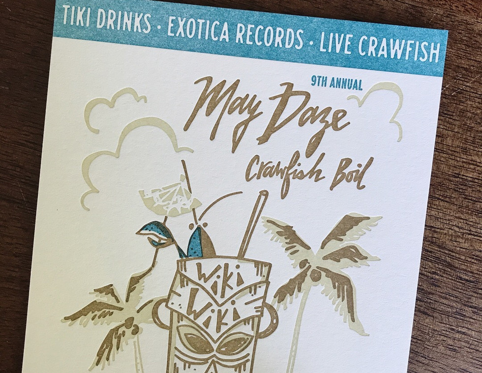 Tiki Crawfish Boil Invitation