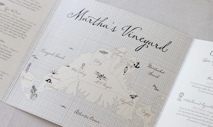 Martha's Vineyard Wedding Collection Maps