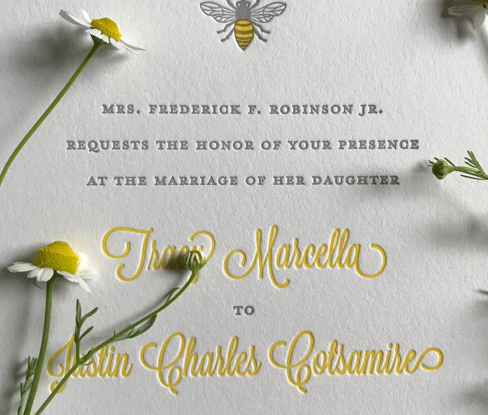 Bumble Bee Wedding Collection