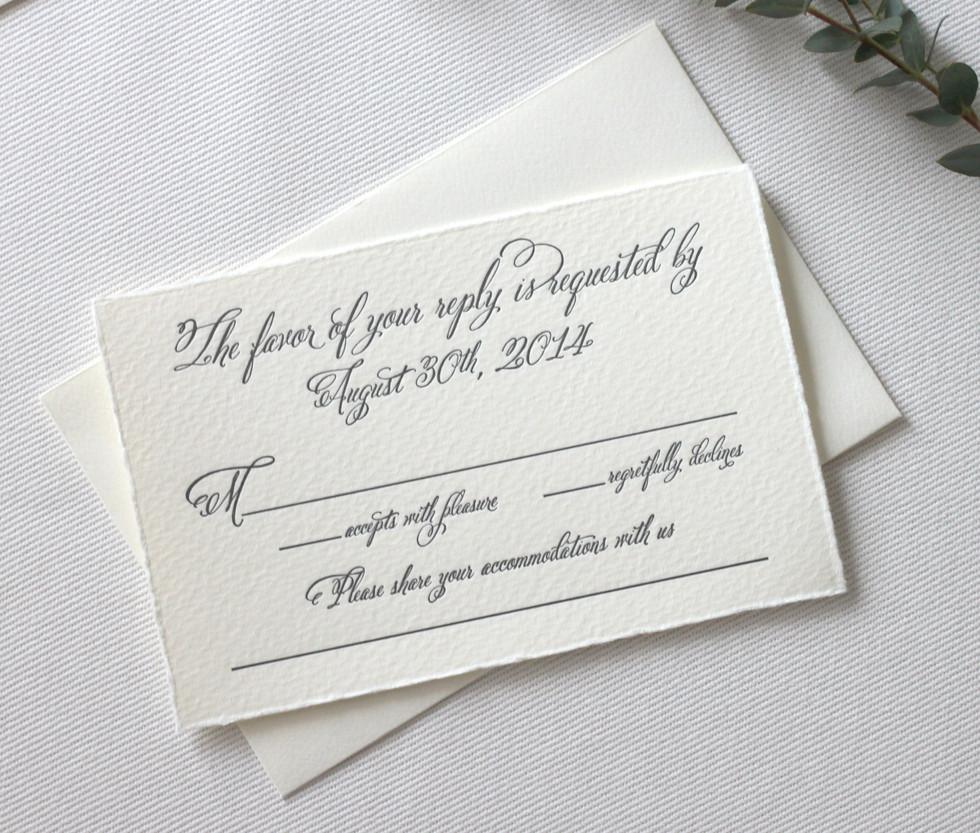 Aspen Love Wedding Invitation RSVP