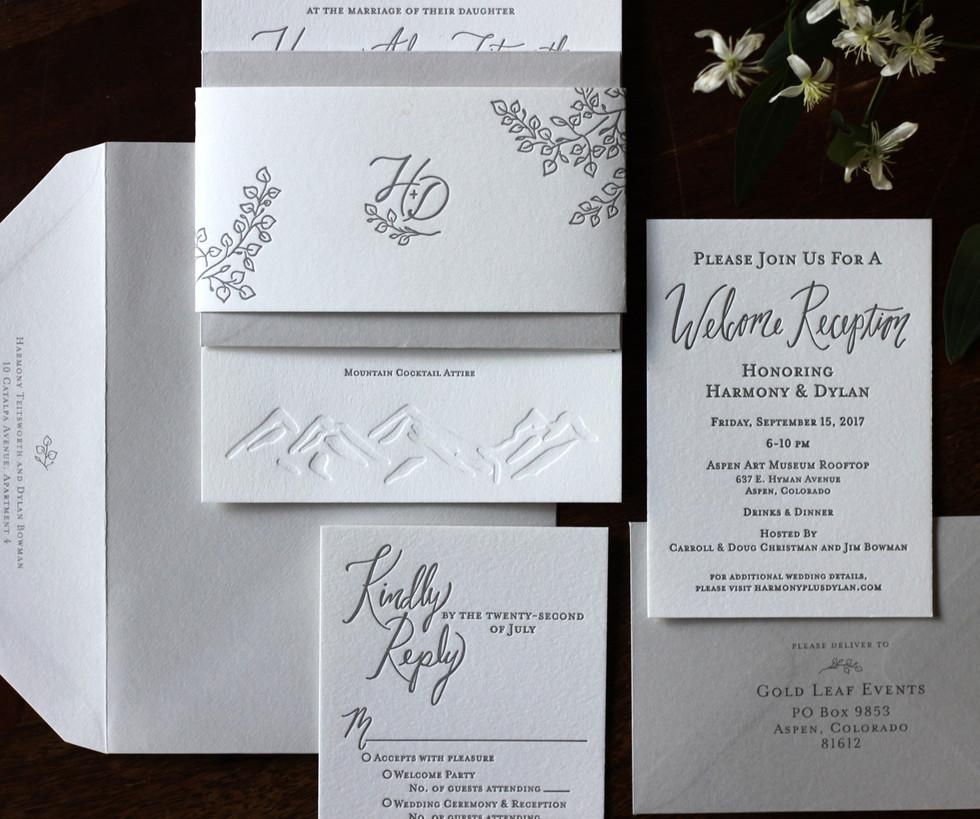 Aspen Mountain Top Wedding Collection