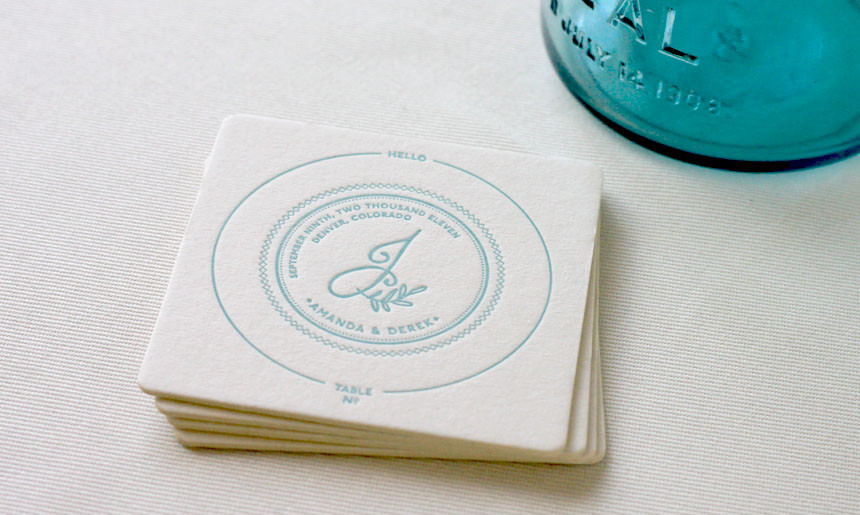 Coaster Place Cards