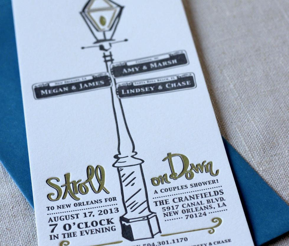 Nola Street Sign Shower Invitation