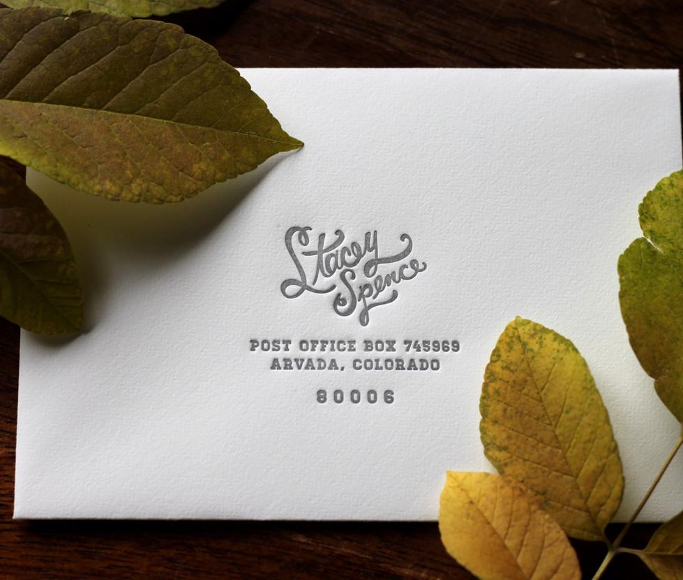 Mountain Peak Wedding RSVP Envelope