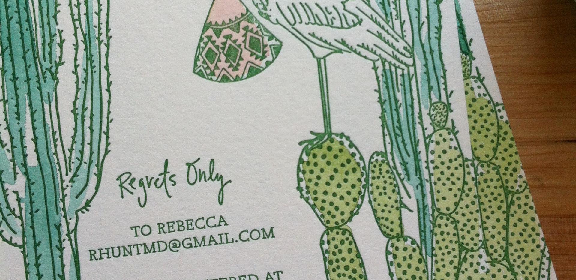 Cactus Baby Shower Invitations