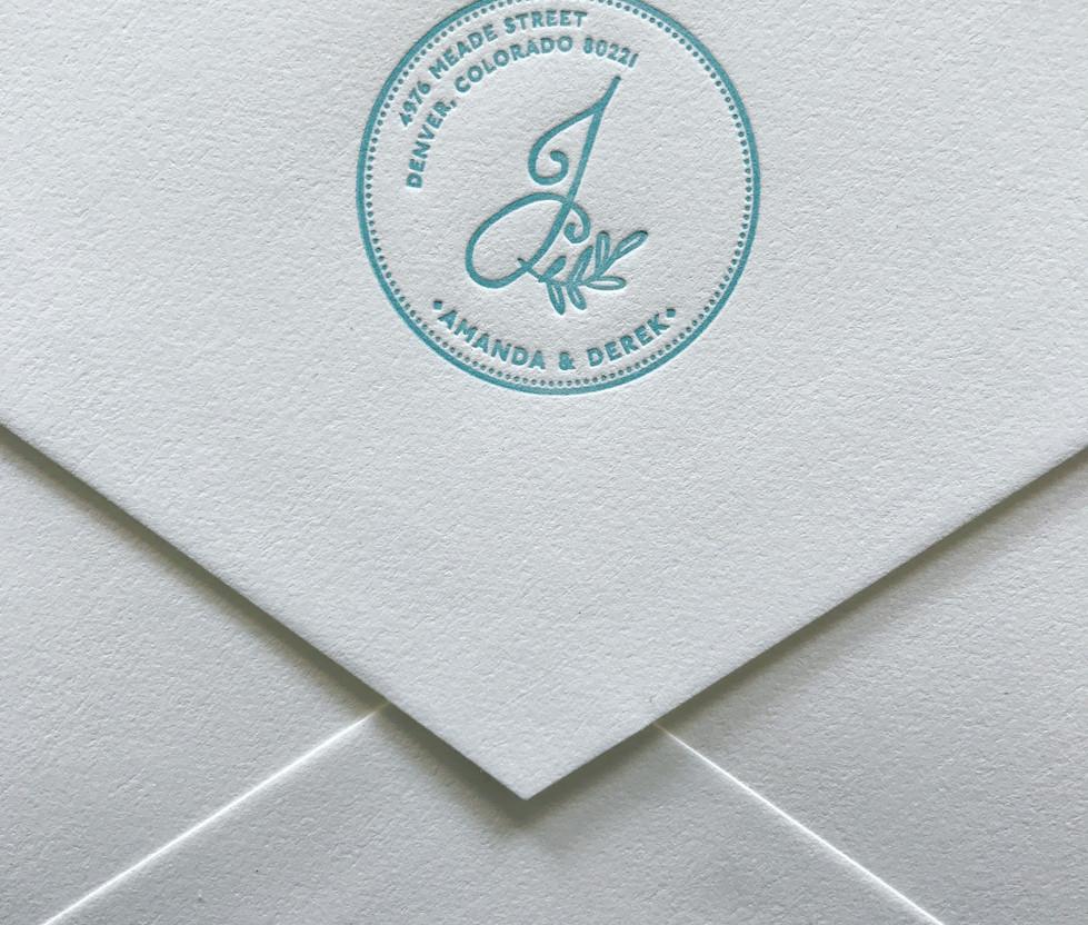 Mason Jar Wedding Envelope