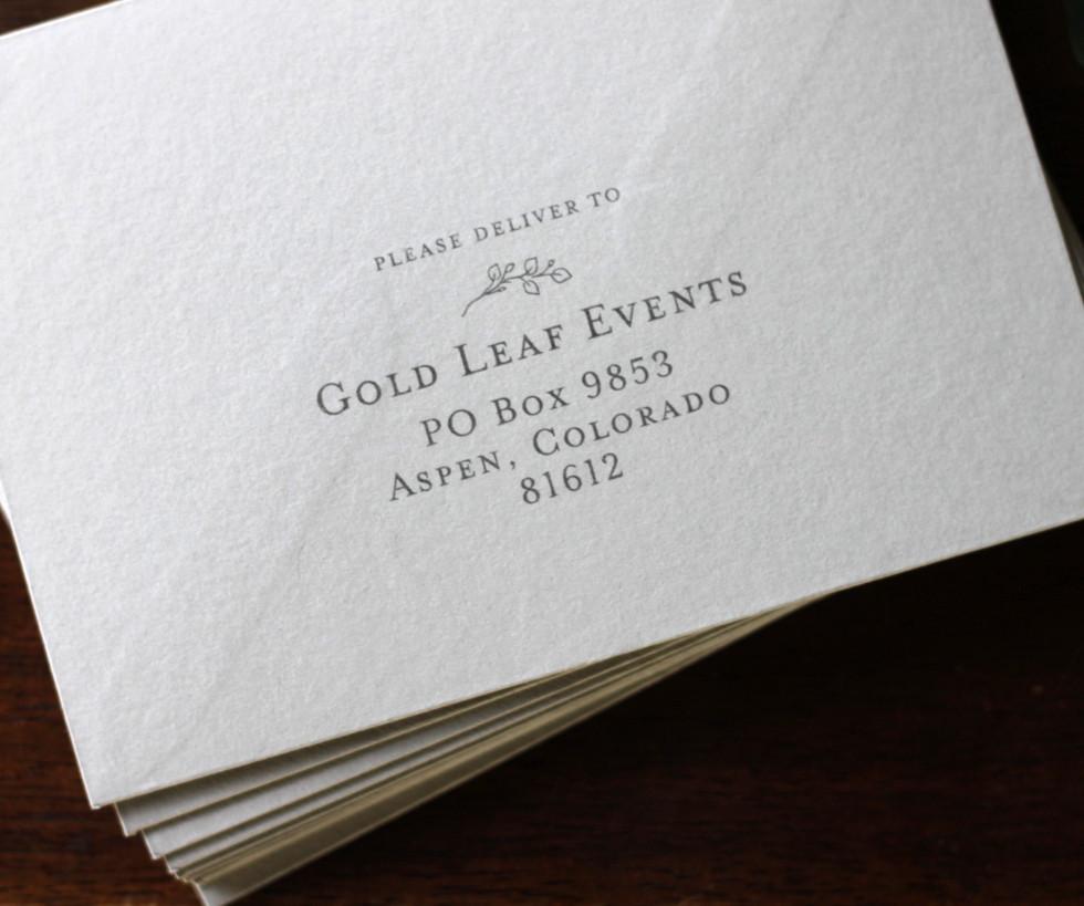 Aspen Mountain Top Reply Envelope