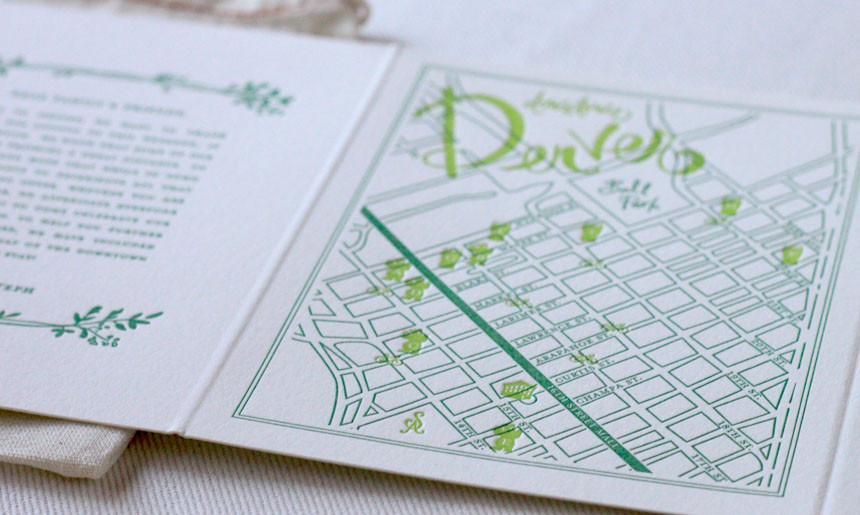 Summer Greenery Wedding Welcome Maps