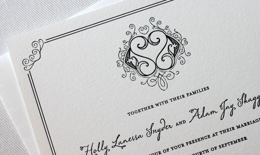 Wrought Iron Wedding Invitation