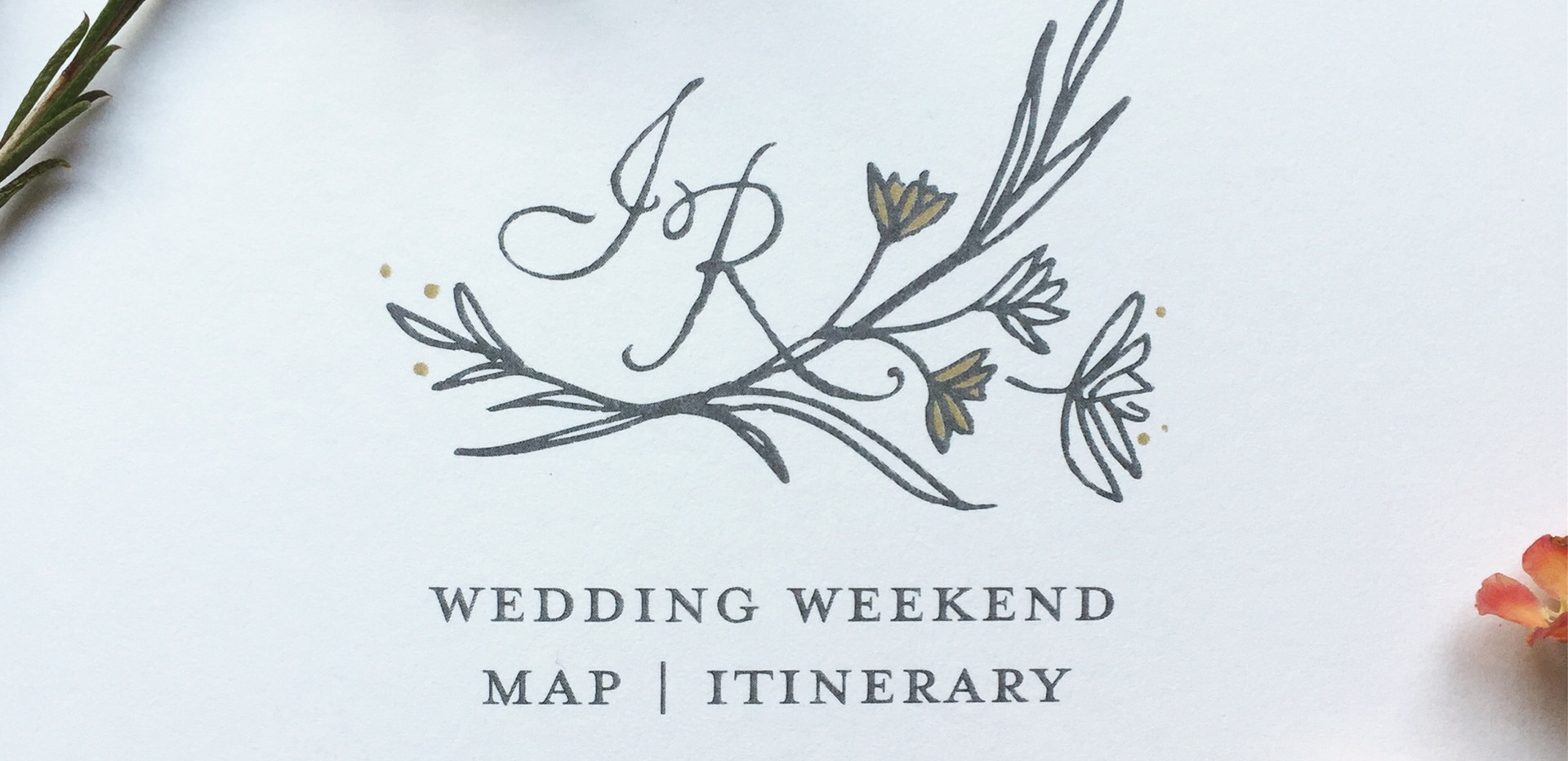Napa Wildflower Wedding Monogram