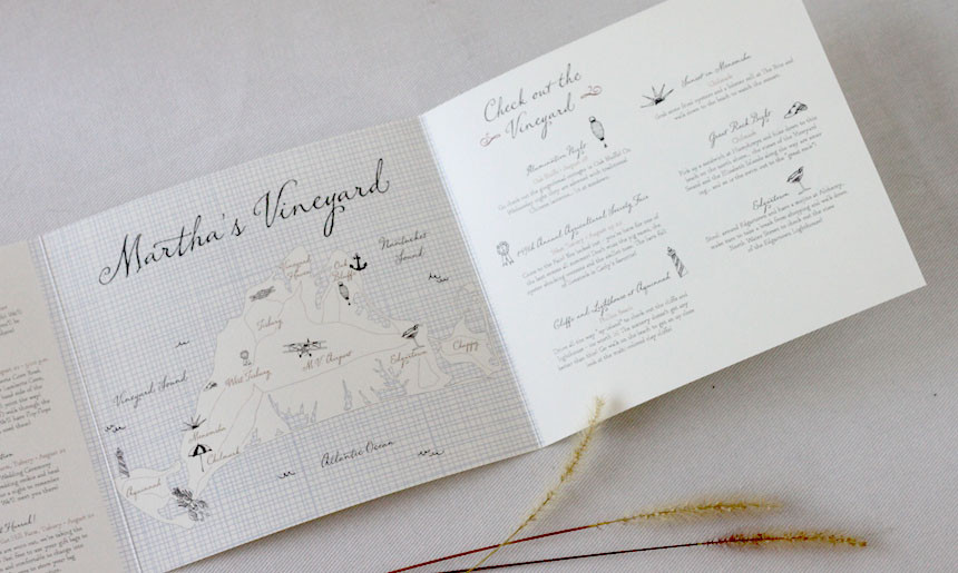 Martha's Vineyard Wedding Collection Maps