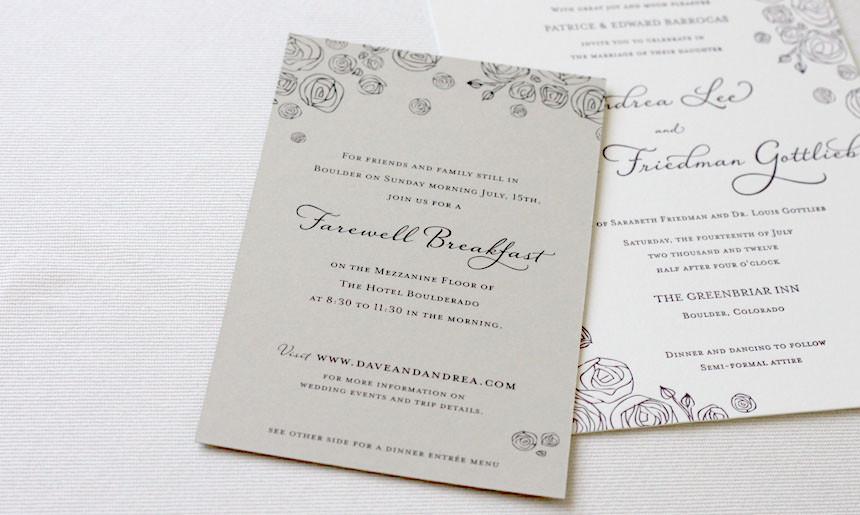 Peony Wedding Collection Card