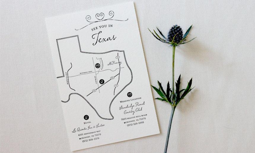 Wrought Iron Wedding Map