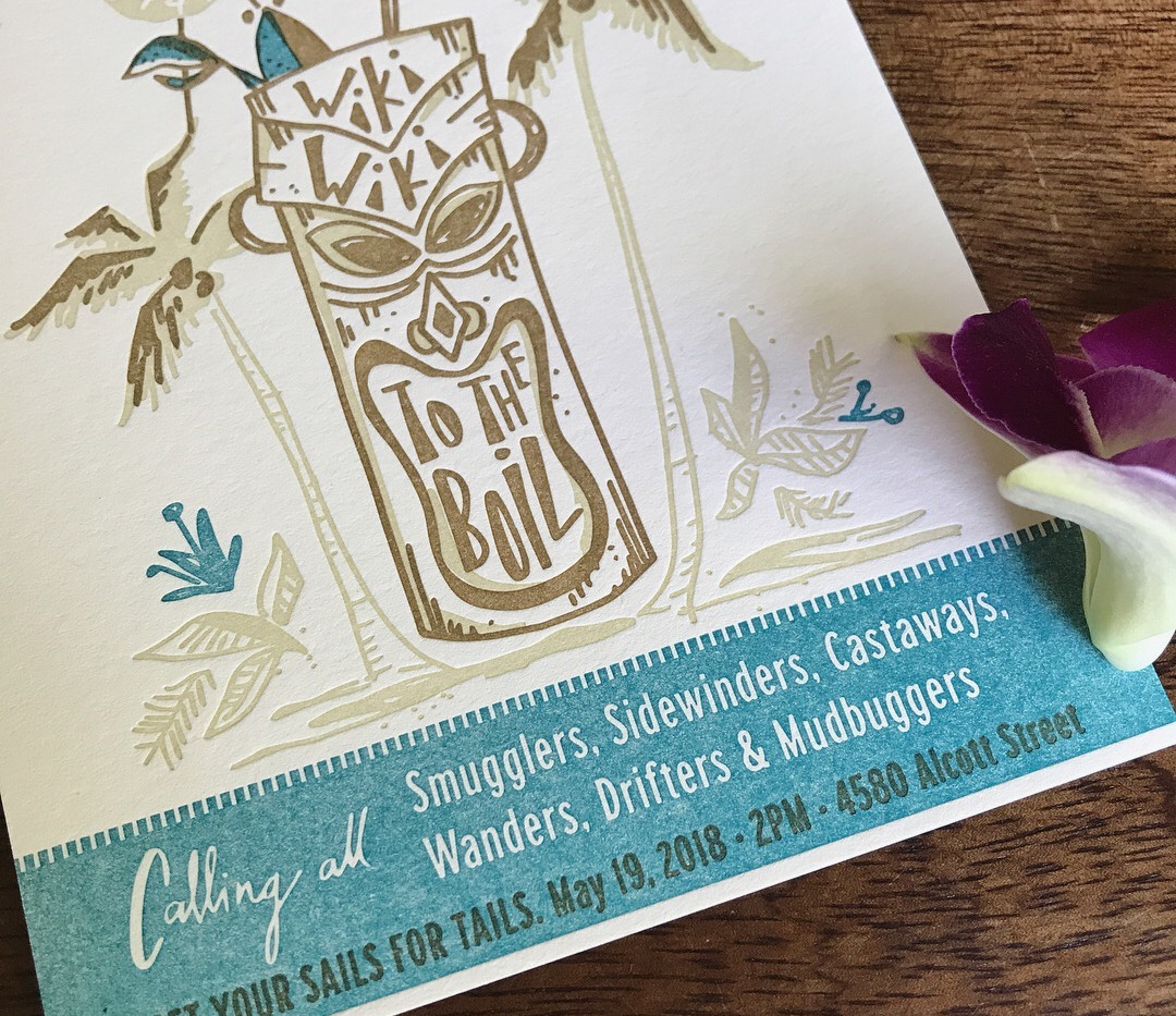 Tiki Crawfish Boil Invitation