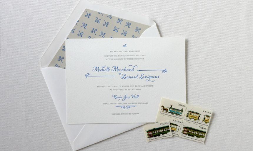 Streetcar Wedding Invitation