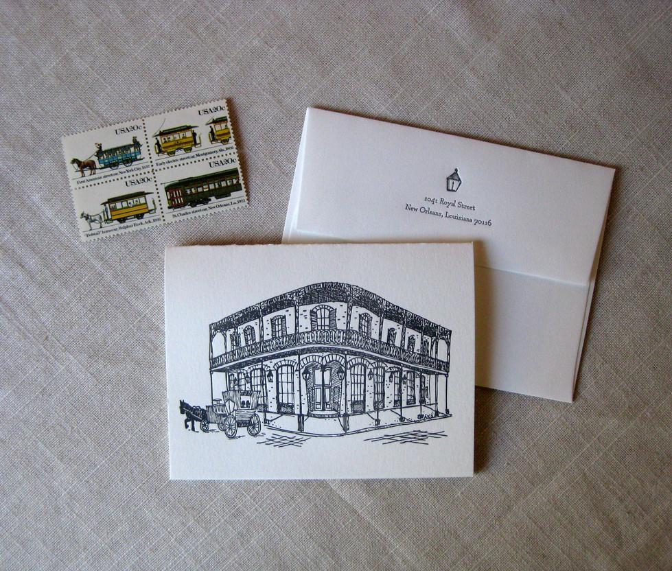French Quarter House Stationery