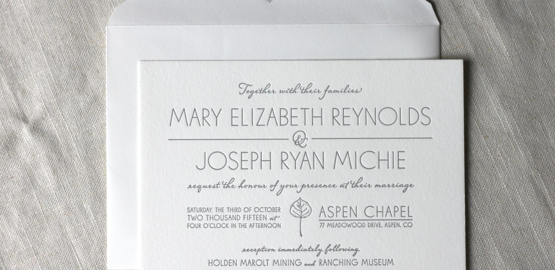 Aspen Fall Wedding Invitation