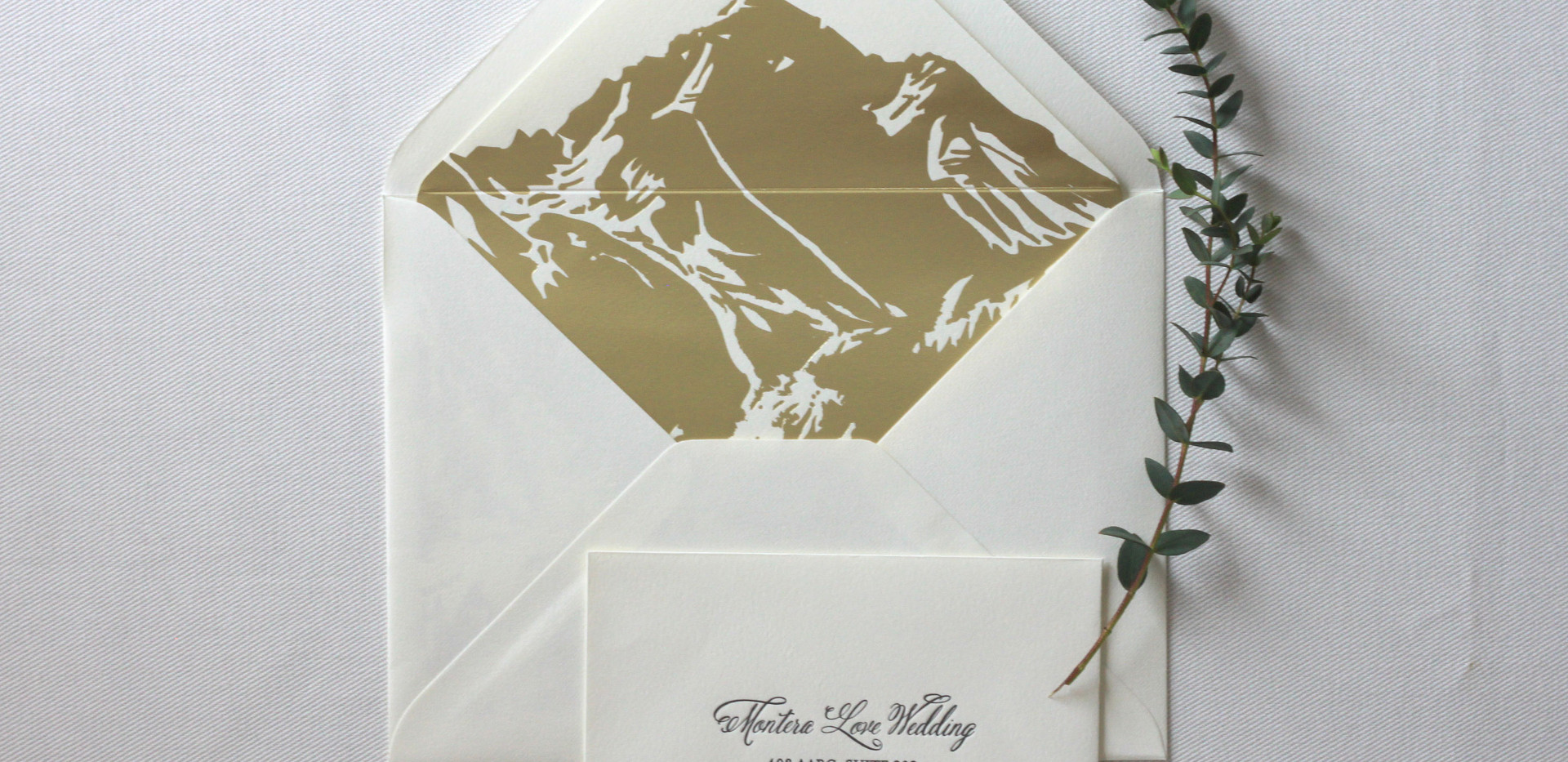Aspen Love Wedding Invitation Envelopes
