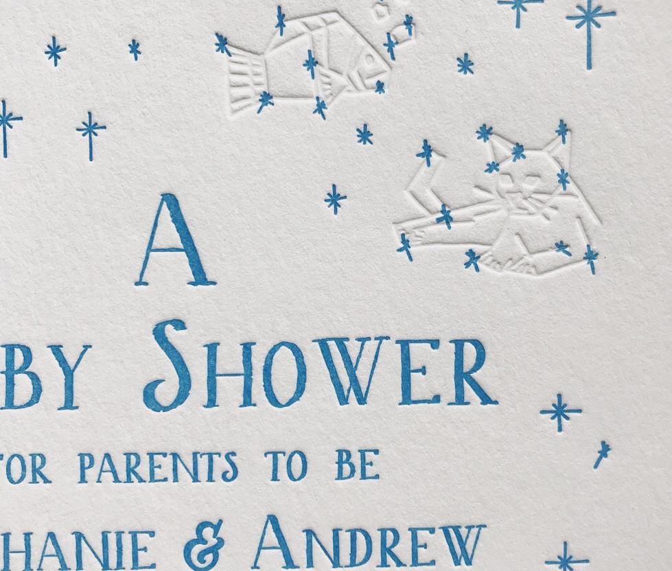 Starry Night Baby Shower Invite
