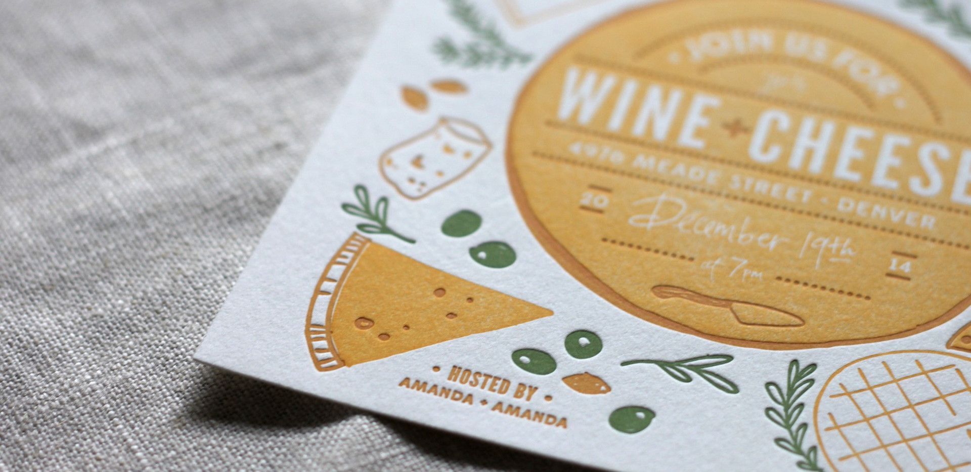 Wine & Cheese Party Invitation