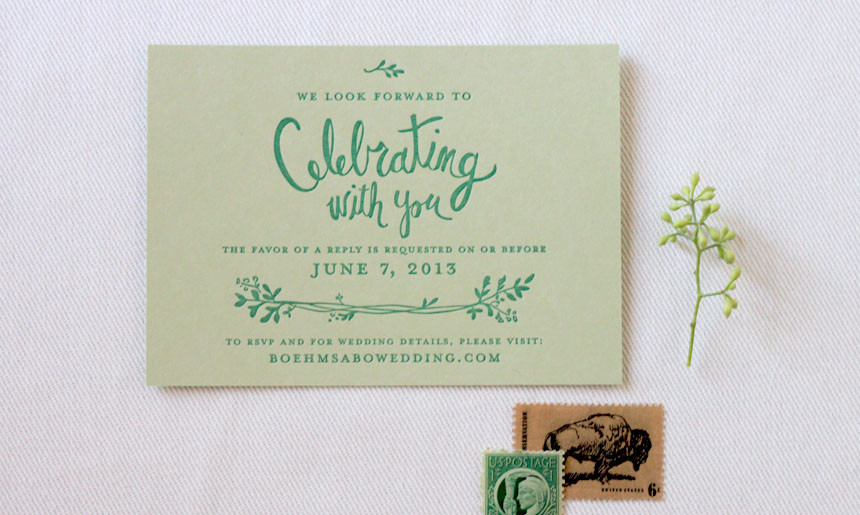 Summer Greenery Reply Card