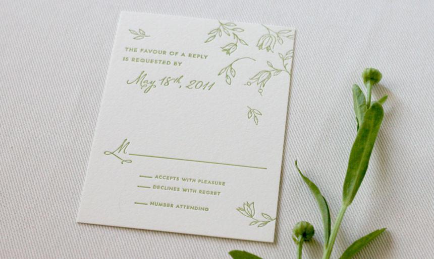Spring Wedding Reply Card