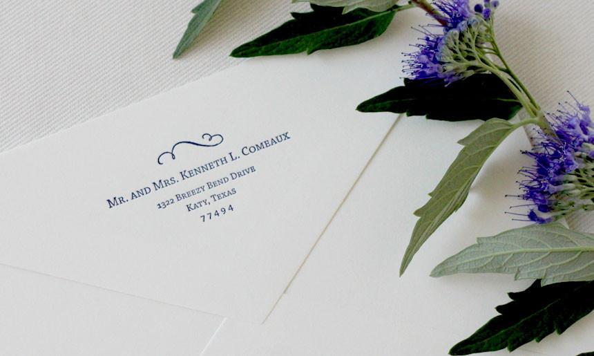 Classic Wedding Envelope