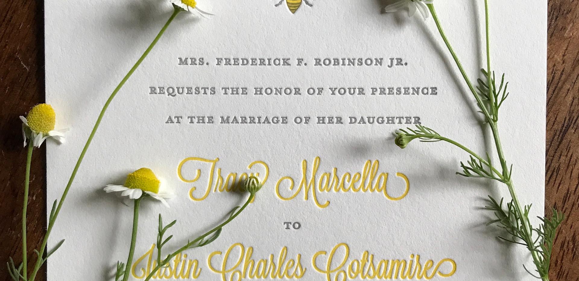 Bumble Bee Wedding Invitation