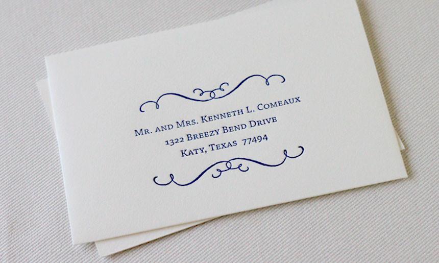 Classic Wedding Reply Envelope