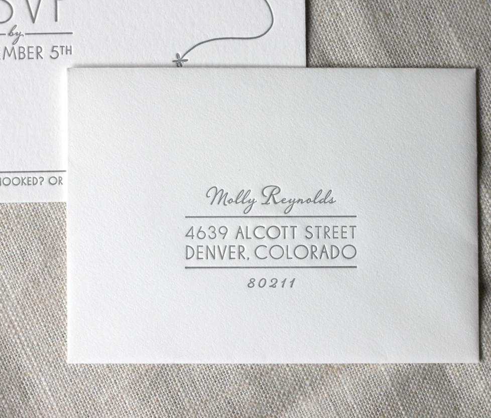 Aspen Fall Wedding RSVP Envelope