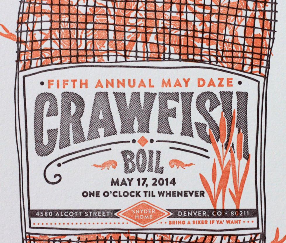 Crawfish Boil Sack Invitation