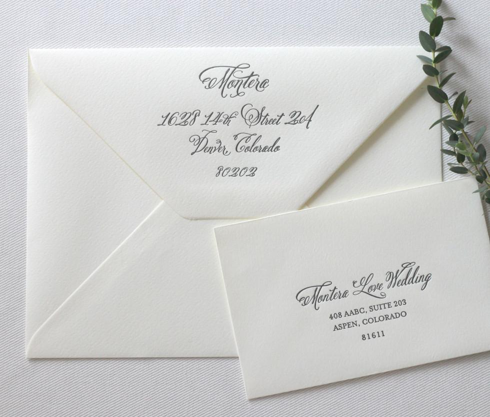 Aspen Love Wedding Invitation Envelopes