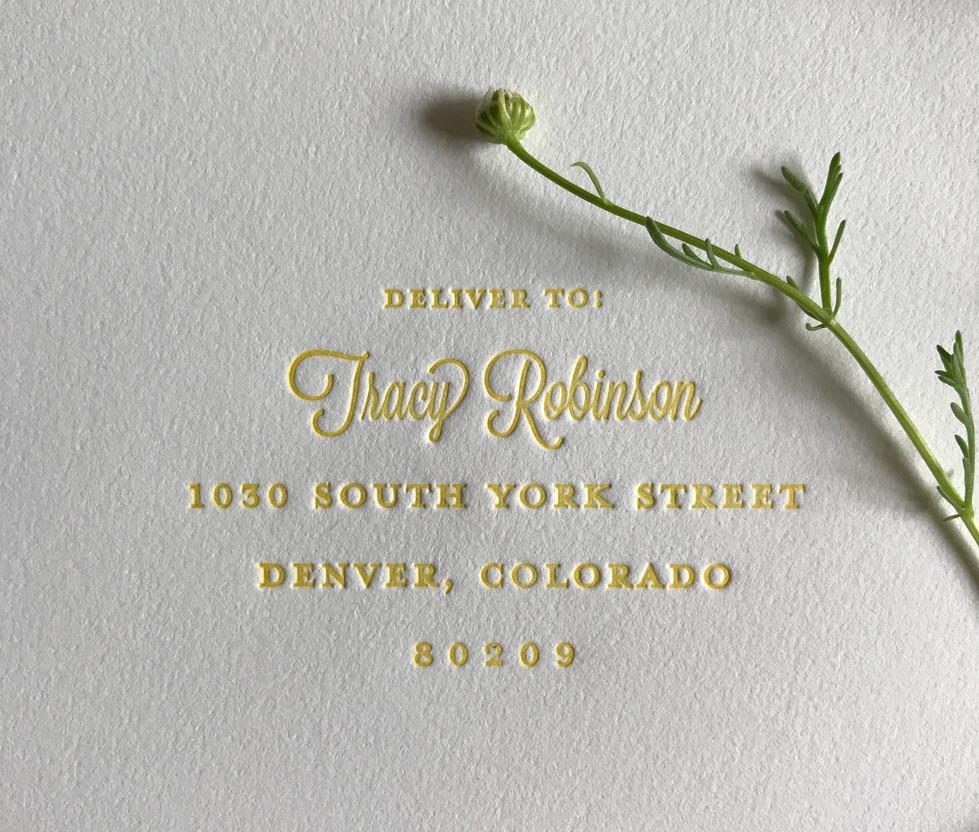 Bumble Bee Wedding Envelope