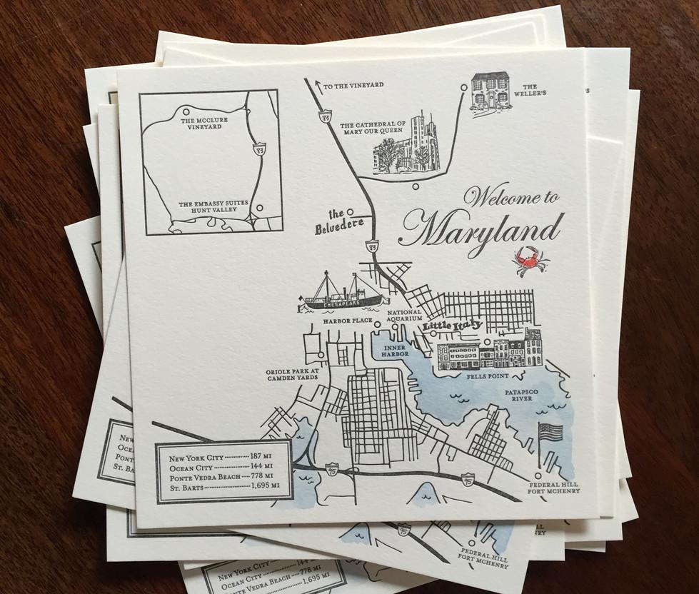 Maryland Wedding Maps